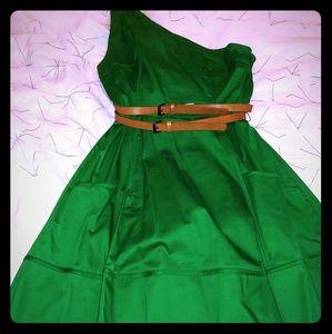Jessica Simpson Green dress